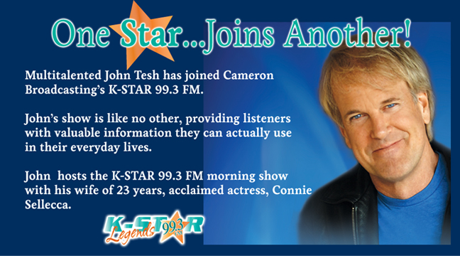 John Tesh... One Star Joins Another!